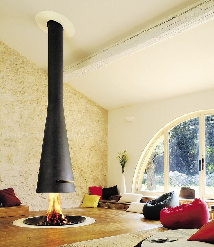 chimenea central moderna hogar cerrado filiofocus focus