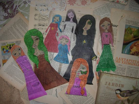 PAPER DOLLS and Rare Original Vintage Supplies for by eltsamp, $40.00