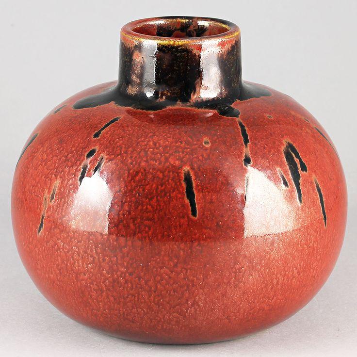 Carl-Harry Stalhane (1963) Unique Rough Red Vase