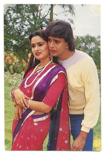 Bollywood-actors-Padmini-Kolhapure-amp-Mithun-Chakraborty-Rare-postcard-post-card