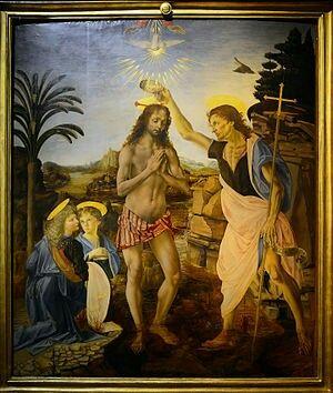 Bautismo de Cristo ( Verrocchio)