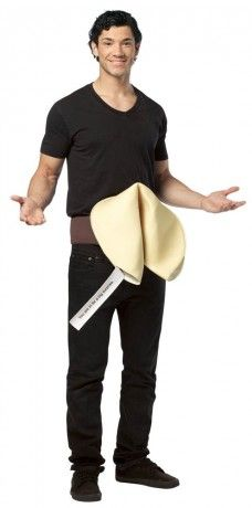 Fortune cookie funny adult costume, uncover your fortune!   Funny ...