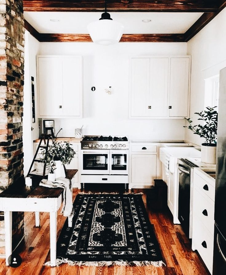 Great way to make an old outdated kitchen look more like a rustic kitchen. Work with what you have