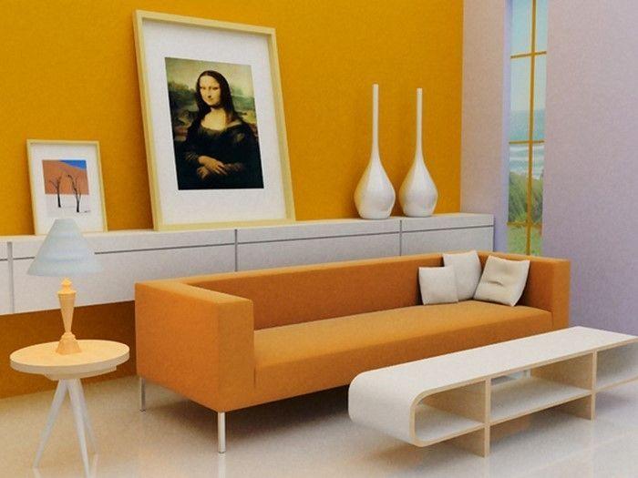 Die besten 25+ Orange wohnzimmer Ideen auf Pinterest Orange - wohnzimmer orange rot