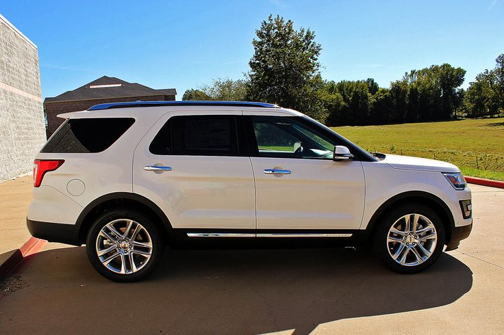 Chrome all day everyday!! 2017 Ford Explorer #white #exterior #chrome