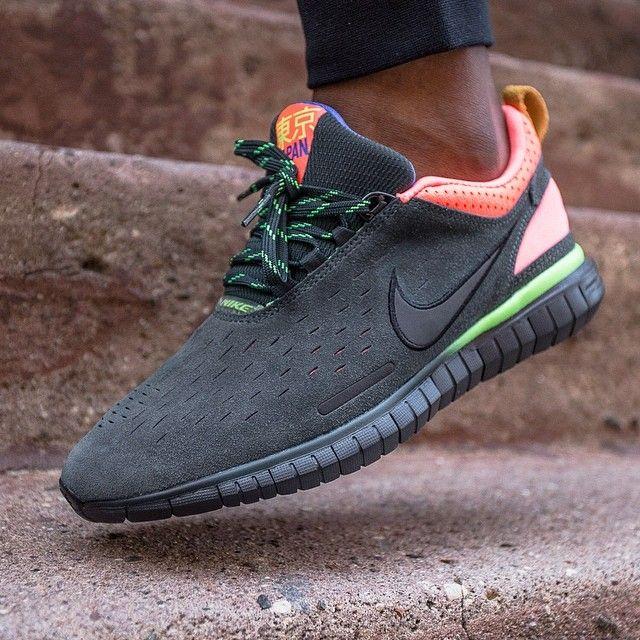 Nike Free OG Breathe Navy Blue Green Running Sports Shoes