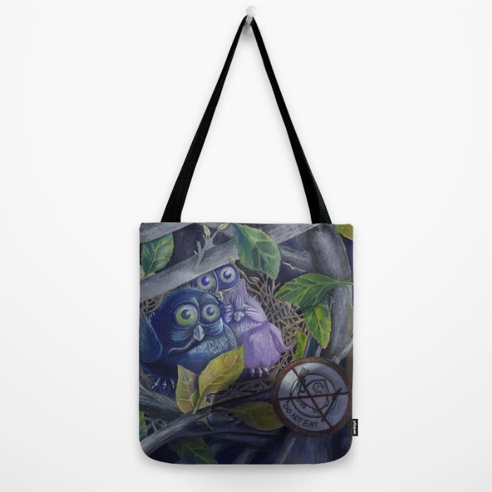 Owl Tote Bag by Andrea Demény | Society6 https://society6.com/product/owl-gkw_bag#26=197 #society6 #owl #owls #animals #nature #totebag #tales