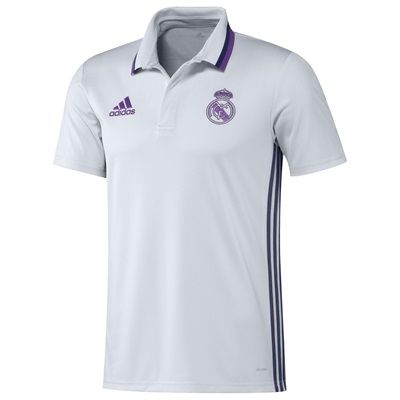 Real Madrid Training Polo - White: Real Madrid Training Polo - Celebrate the roots of Real Madrid in this… #RealMadridShop #RealMadridStore