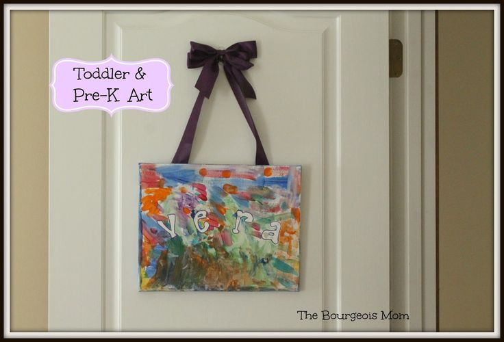 Toddler and Pre-K Canvas Art