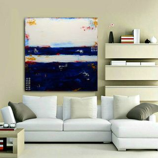 """Maritime Blues"" - coastal abstract painting by Sabina D'Antonio"