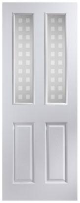 4 Panel White Pre-Painted Internal Glazed Door NAT26APOFD+GEP  sc 1 st  Pinterest & 16 best Doors images on Pinterest | Glass doors Interior doors ... pezcame.com