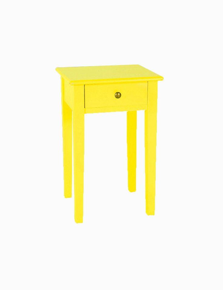 POP nattduksbord gul