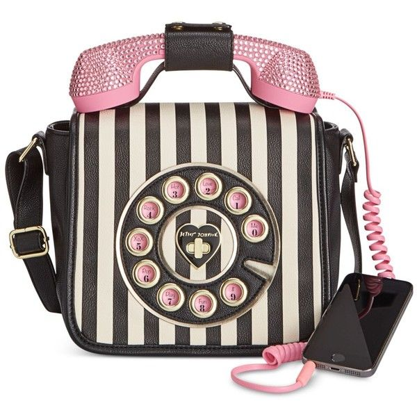 Betsey Johnson Phone Crossbody with Rhinestones (2.285 UYU) ❤ liked on Polyvore featuring bags, handbags, shoulder bags, stripe, evening handbags, striped purse, evening purses, betsey johnson purses and cross-body handbag