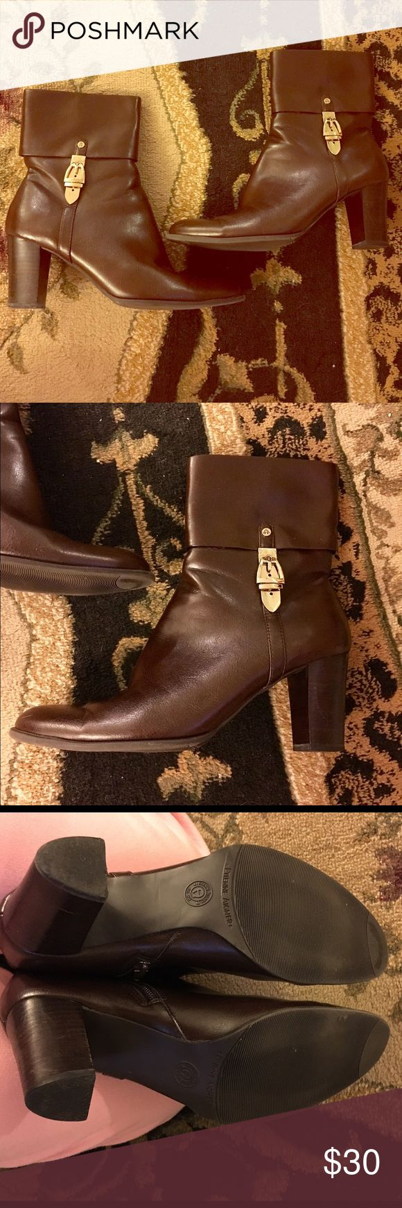 Etienne Aigner Brown Ankle Boot Booties Worn only once or twice!! Beautiful!!! Just waiting for the perfect home! Man made materials Size 7 Etienne Aigner Shoes Ankle Boots & Booties