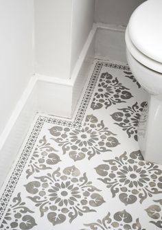 Kota and Neemrana Stencils used to create this beautiful patterned floor.  nicolettetabram.co.uk  #stencils #nicolettetabramstencils #paintedfloors