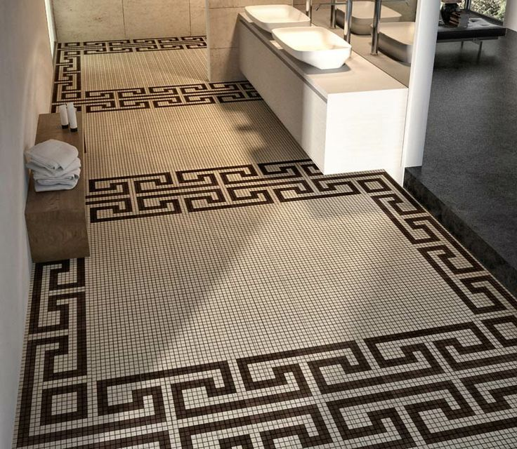 The Woodn Ornans Compositus solution decorates the #interiors with #mosaic #designs, both on wall coverings as on #floors.