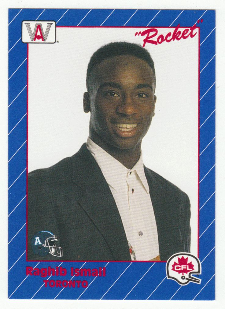 Rocket Ismail # 38 - 1991 All World CFL Football