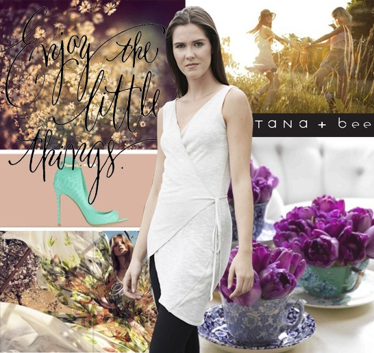 Enjoy the Little things with the Double Stitch Tank Wrap from Tana+Bee!  www.tanabeedesign.com