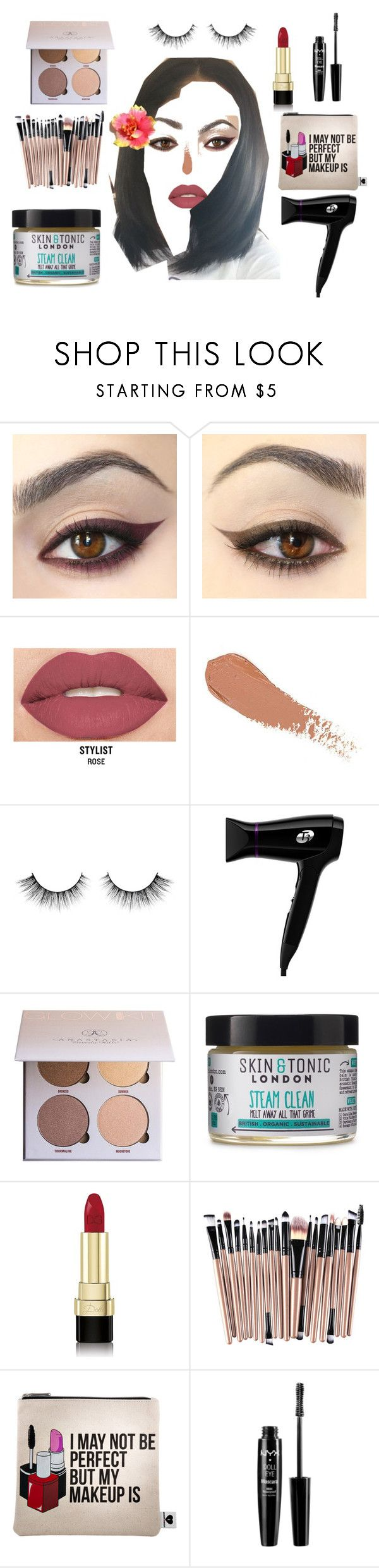 """DIY Beauty"" by shirley-de-gannes ❤ liked on Polyvore featuring beauty, Smashbox, T3, Anastasia Beverly Hills, Skin & Tonic, Dolce&Gabbana, Sephora Collection and NYX"
