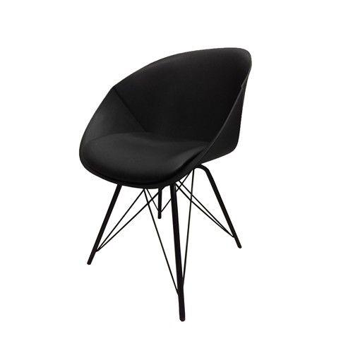 Het nieuwste ontwerp van Kick, de designstoel Jax. Uitgevoerd met metalen poten onder een comfortabele kuip met pu zitting. Deze topper is verkrijgbaar in wit, grijs en zwart.