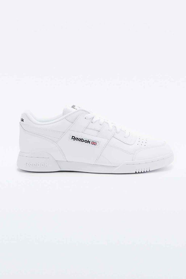 """Reebok """"Workout Plus"""" Leder-Sneaker in Weiß"""