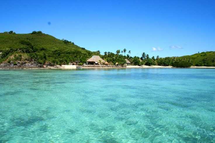 View of #NavutuStarsFiji from the lagoon #YasawaIslands #Fiji