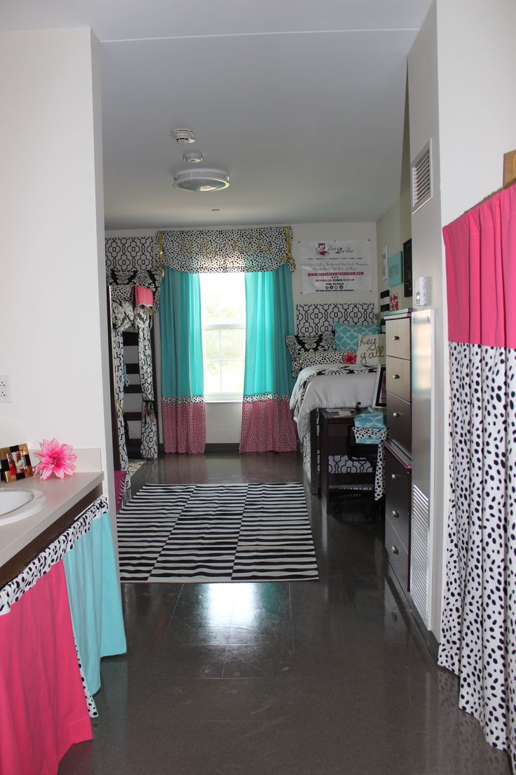 Ole Miss Dorm : Black Gold Tiffany Pink Dorm Room | Sorority and Dorm Room Bedding -- Custom Dorm Closet Panel