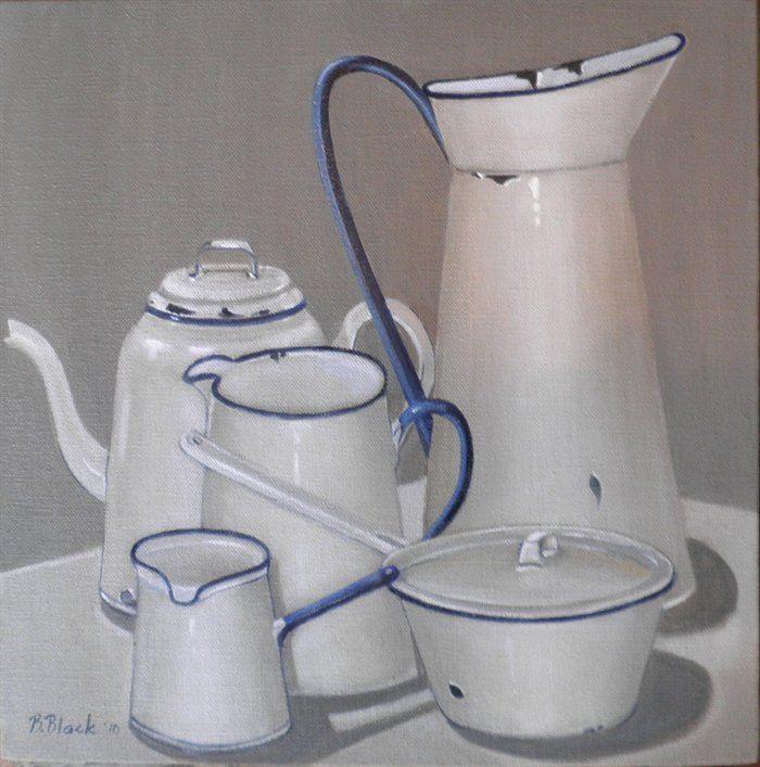 painting of enamelware