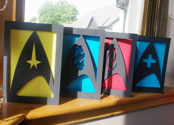 Stark Trek Silhouette Cards - handmade from IceCapsicle on Etsy.
