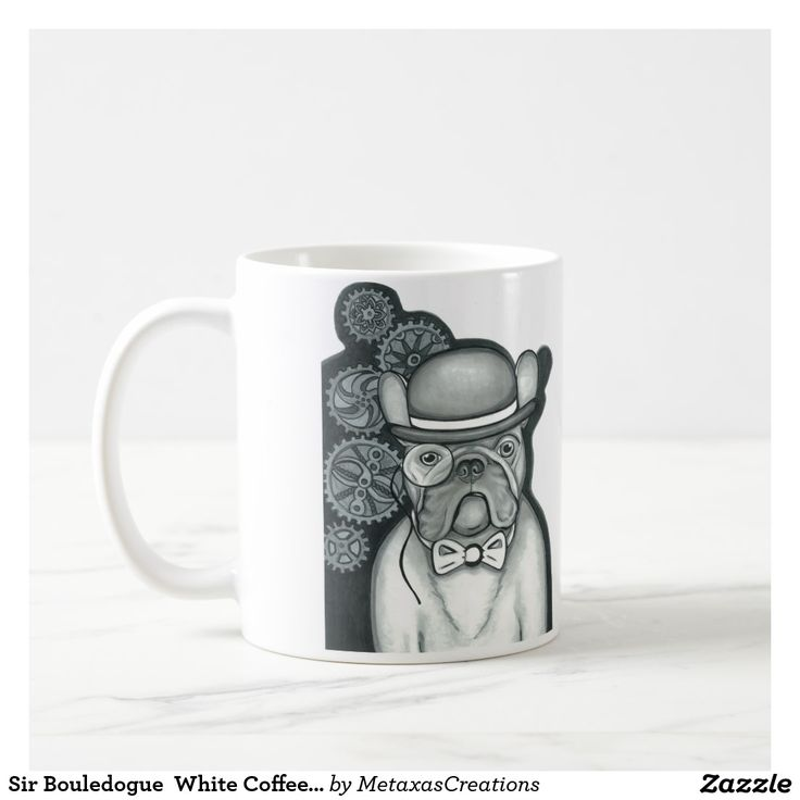Sir Bouledogue  White Coffee Mug