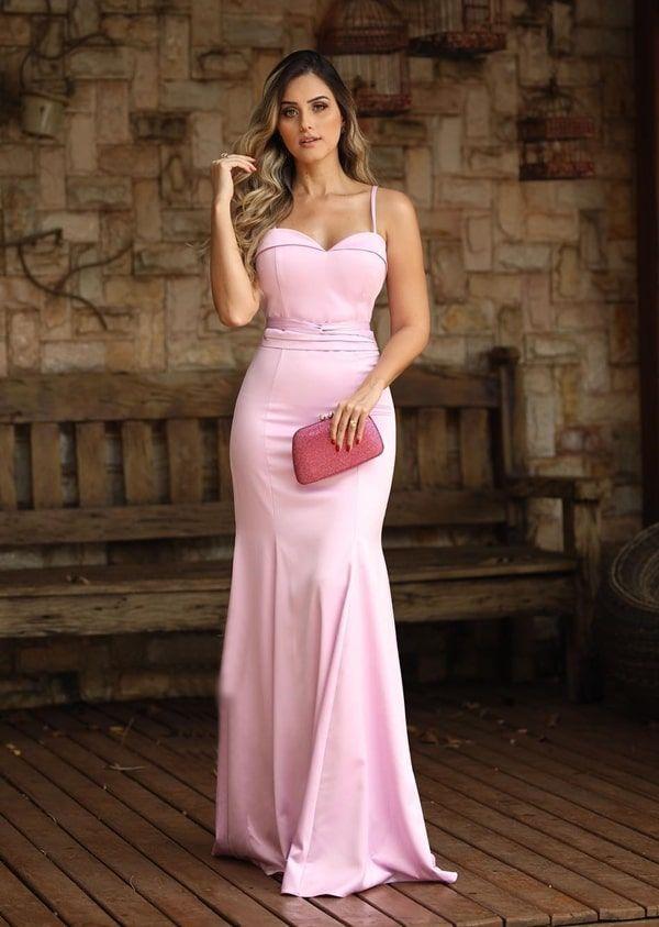 85477f78e Too cute pink dress ballgown evening gown. #VALSTORE vestido longo rose  para madrinha de casamento #cutepinkdresses