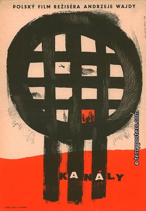 THE CANAL (Kanal) Author: Fišer, Jaroslav  Countries: Poland  Year of poster origin: 1963  Director: Andrzej Wajda  Genre: War films