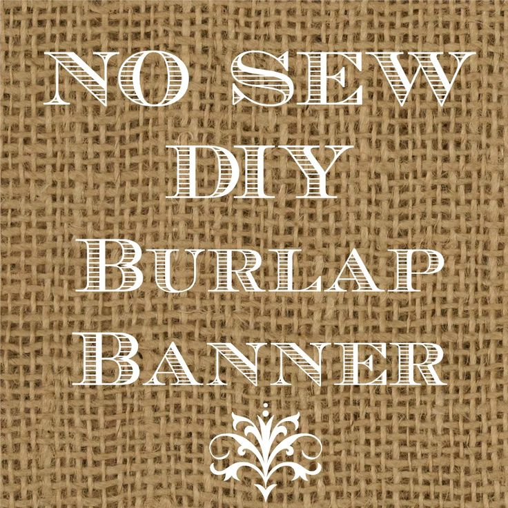 Diy Wedding Word Banners: DIY Burlap Banners Are Very Trendy During The Fall Months