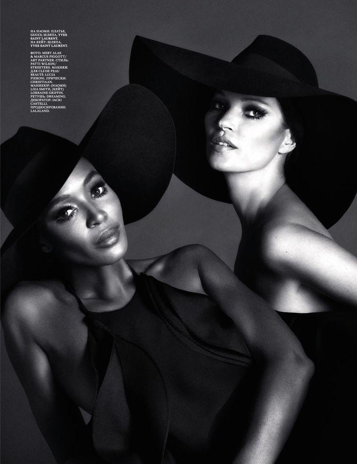 Naomi & Kate by Mert & Marcus in YSL