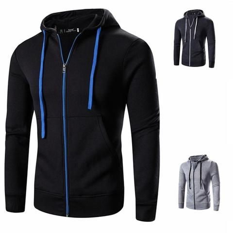2018 mens Spring   Autumn Casual coat men s classic hoodie apparel top clothes  male Hoodies   Sweatshirts Zip Up Hoody Jackets ec7177164927