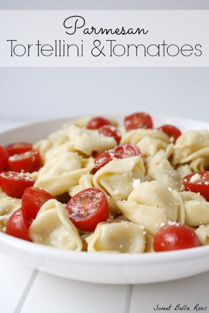 Parmesan Tortellini & Tomatoes- one of my favorite weeknight meals #recipes #dinner