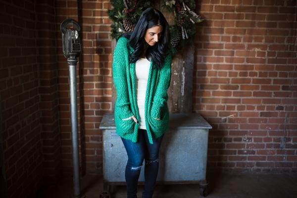 One of our MOST Anticipated Cardigan Launches EVER!!! From that GORGEOUS Colour to the Fit and POCKETS - you'll want to LIVE in the Mistletoe Cardigan! Sized S,