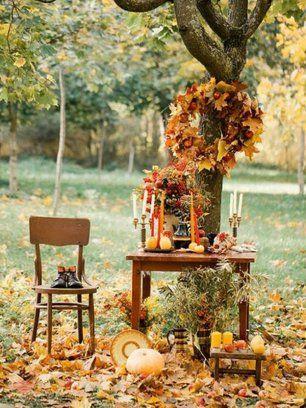 Декор свадебной осенней фотосессии