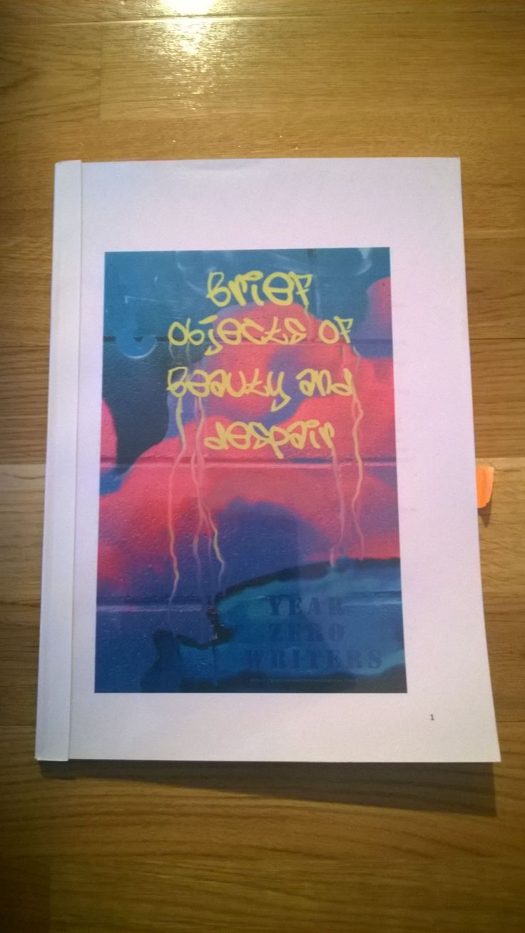 Brief Objects of Beauty and Despair is the first Sampler of work from Year Zero Writers. It is available as a free PDF file.