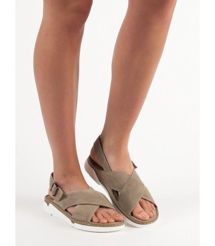 992ae0b45d031 Kožené sandále na platforme   Dámske sandále