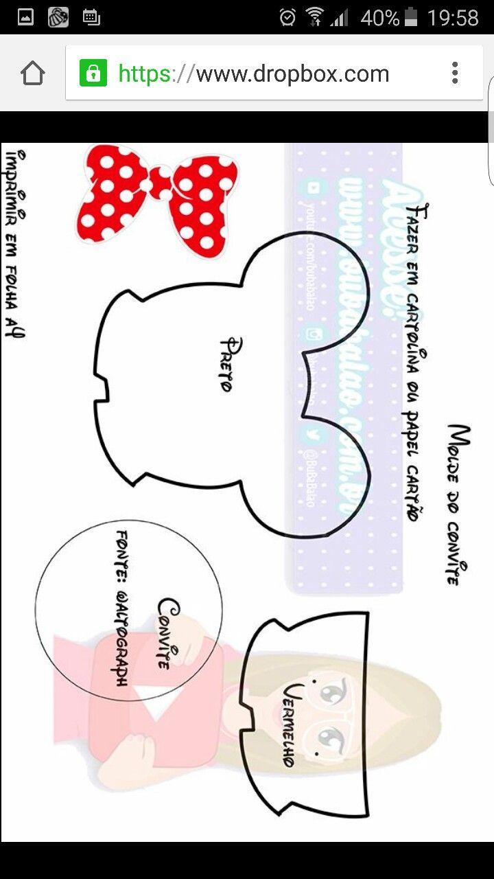 Cumple Mickey Mouse | Molde Invitaciones Mickey & Minnie Mouse