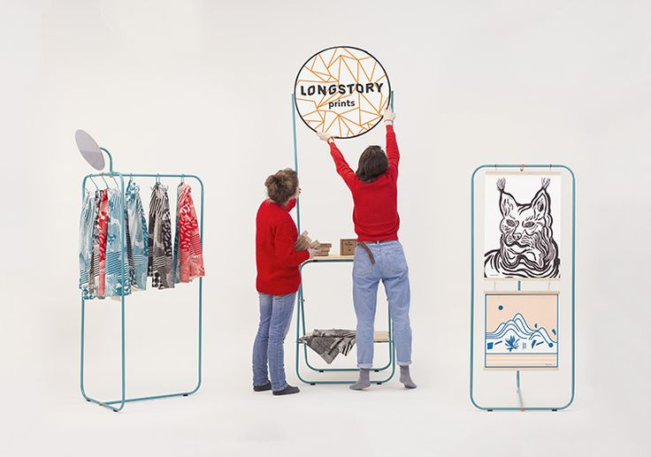 Mobile selling point for duet of graphic designers named Longstory