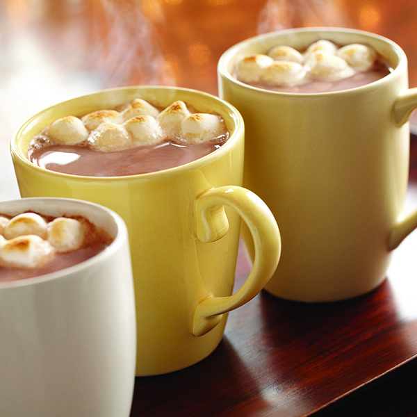 You can never go wrong with hot chocolate on a cold winter day. Heat our sweetened condensed milk, cocoa, vanilla & salt until mixed well. Slowly stir in hot water, making sure the mixture doesn't boil. Top with as many marshmallows as desired for a final touch. It's that easy!