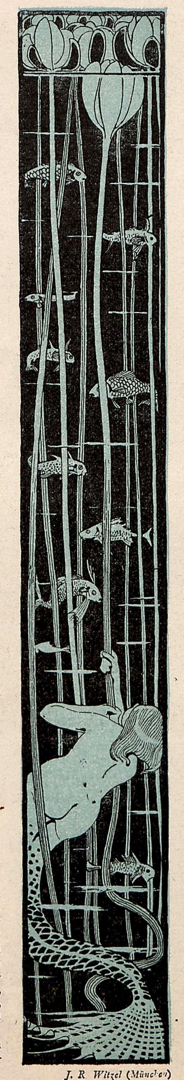 Freshwater nymph. J.R. Witzel, Jugend magazine, 1897