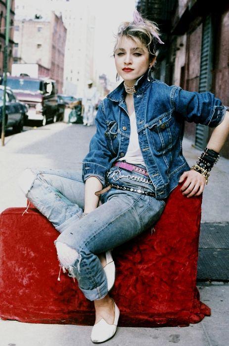 Madonna, double denim