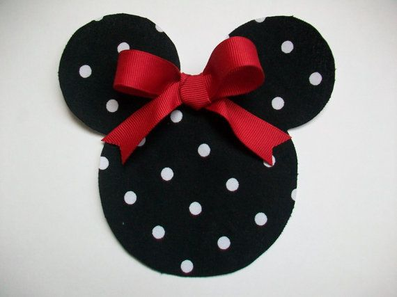 DIY NoSew Minnie Mouse Applique Iron On by MaggiesCastle on Etsy, $2.35