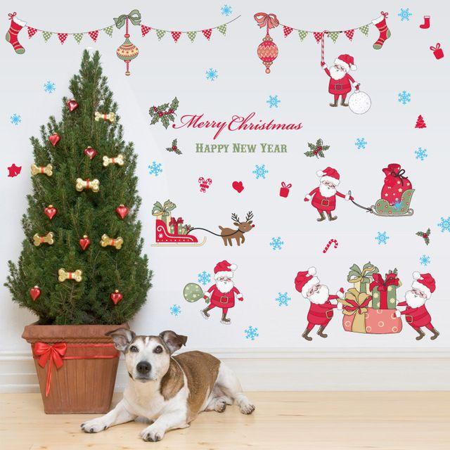 Buy now Merry christmas window stickers DIY Vinyl Wall Stickers Santa Claus Glass Home Decor Art Decals Wallpaper decorations for home just only $4.55 with free shipping worldwide  #wallstickers Plese click on picture to see our special price for you