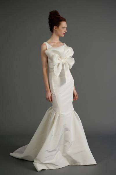 Robe de mariée sirène taffetas fleur
