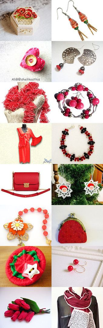 ♥ Red Tuesday  ♥ by Tatie on Etsy--Pinned with TreasuryPin.com