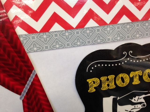 CPT's Poppy Red Chevron and Slate Grey Starflower border go perfectly together! This was created by The Teachers' Lounge in St. Louis, MO. #creativeteachingpress #classroomideas #classdecor #classroomorganization #chevron #chevronclassroom